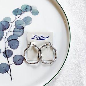 Lucky Brand Hoop Earrings Silver